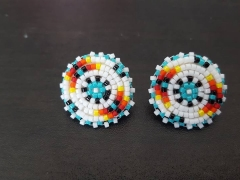 YOUTH Round Beaded Earrings