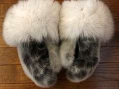 Boxer Style Sealskin Mittens with Catherine Cockney