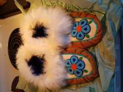 Moccasins with Beaded Tops with Karen Nicloux