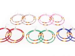 Beaded Hoop Earrings with Lesley Ann Evans